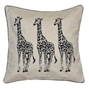 Spencer Home Decor Giraffe Trio Throw Pillow