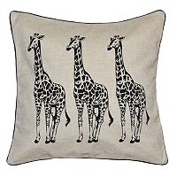 Spencer Home Decor Giraffe Trio Throw Pillow
