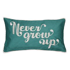Spencer Home Decor 'Never Grow Up' Oblong Throw Pillow