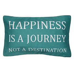 Spencer Home Decor 'Happiness is a Journey' Oblong Throw Pillow