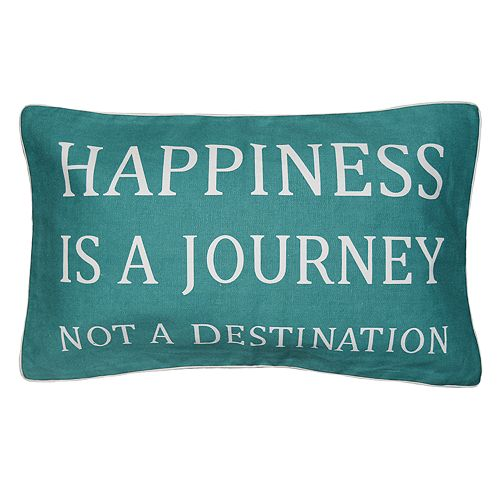 "Spencer Home Decor ""Happiness is a Journey"" Oblong Throw Pillow"