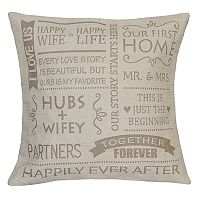 Spencer Home Decor Marriage Phrases Throw Pillow