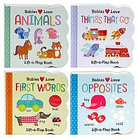 Babies Love 4-Piece Lift-A-Flap Board Book Set by Cottage Door Press