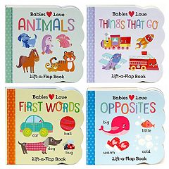 Babies Love 4 pc Lift-A-Flap Board Book Set by Cottage Door Press