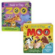 Peek-A-Flap 2 pc Board Book Set by Cottage Door Press