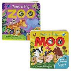 Peek-A-Flap 2 pc Board Book Set by Cottage Door Press