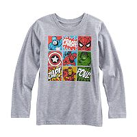 Boys 4-10 Jumping Beans® Marvel The Avengers Spider-Man, Iron Man, The Hulk & Captain America Grid Graphic Tee