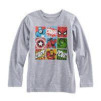 Boys 4-10 Jumping Beans® Marvel The Avengers Spider-Man, Iron Man, The Hulk & Captain America Grid Graphic Tee