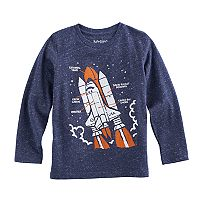 Boys 4-10 Jumping Beans® Rocket Diagram Slubbed Tee