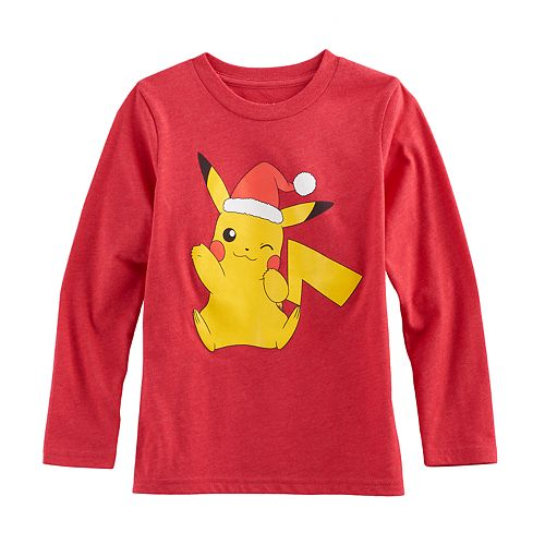 Boys 4-10 Jumping Beans® Pokemon Pikachu Santa Hat Graphic Tee