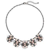 Pink Flower Statement Necklace