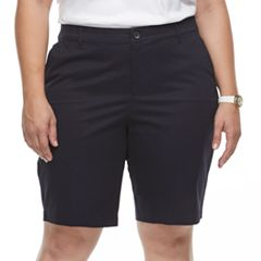 Plus Size Croft & Barrow® Essential Bermuda Shorts