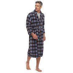 Men's Residence Plush Fleece Shawl-Collar Robe