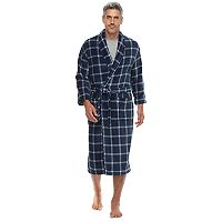 Men's Residence Plush Fleece Shawl-Collar Robe