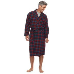 Men's Residence Shawl-Collar Flannel Robe
