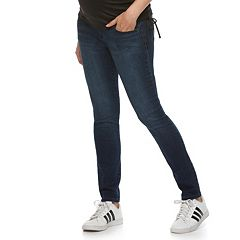 Maternity a:glow Full Belly Panel Faded Skinny Jeans