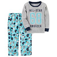 Boys 4-12 Carter's Sports Fleece 2-Piece Pajama Set