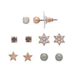 LC Lauren Conrad Star & Solitaire Stud Earring Set