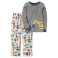 Boys 4-8 Carter's Construction 2 pc Fleece Pajama Set