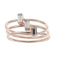 LC Lauren Conrad Baguette Ring Set