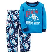 Boys 4-12 Carter's Yeti 2 pc Pajama Set