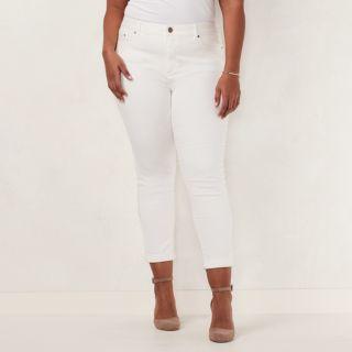 Plus Size LC Lauren Conrad Love, Lauren Cuffed Ankle Skinny Jeans