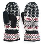 Women's Isotoner Knit Snowflake Mittens