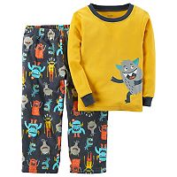 Boys 4-8 Carter's 2 pc Monster Fleece Pajama Set