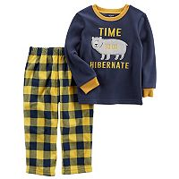Boys 4-12 Carter's Bear Fleece 2 pc Pajama Set