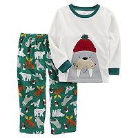 Boys 4-8 Carter's Wallrus 2-Piece Fleece Pajama Set