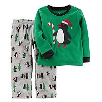 Boys 4-12 Carter's Penguin Fleece 2-Piece Pajamas