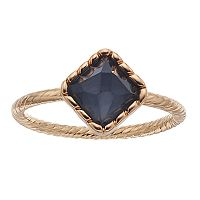 LC Lauren Conrad Square Twisted Ring
