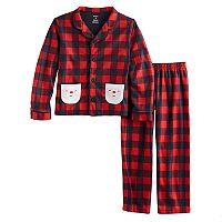 Boys 4-12 Carter's Check Santa 2-Piece Pajama Set