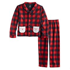 Boys 4-12 Carter's Check Santa 2 pc Pajama Set