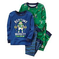 Boys 4-12 Carter's Football 4-Piece Pajama Set