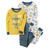 Boys 4-8 Carter's Construction 4-Piece Pajama Set