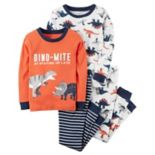 Boys 4-12 Carter's Dinosaur 4-Piece Pajama Set