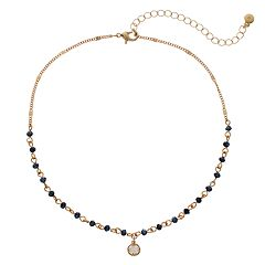 LC Lauren Conrad Beaded Link Choker Necklace