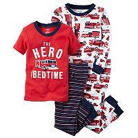 Boys 4-8 Carter's Firetruck 4-pc. Pajama Set