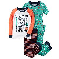 Boys 4-12 Sports 4 pc Pajama Set