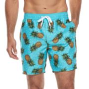 Men's Trinity Collective Pine Pineapple Slim-Fit Elastic Swim Shorts