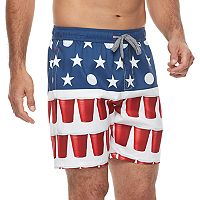 Men's Trinity Collective Blackout Elastic Americana Swim Shorts