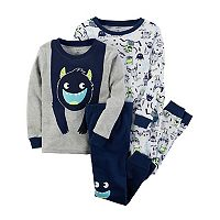Boys 4-8 Carter's Monster 4-Piece Pajama Set