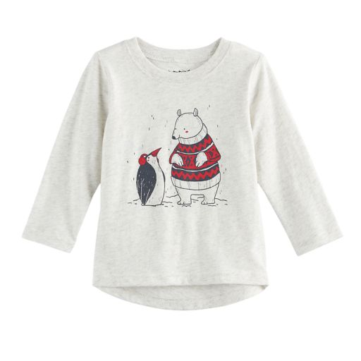 Baby Boy Jumping Beans® Bear & Penguin Drop Tail Graphic Tee