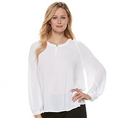 Women's Apt. 9® Pleated Crepe Blouse