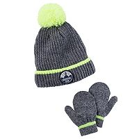 Toddler Boy Carter's Pom Pom Beanie & Mittens Set