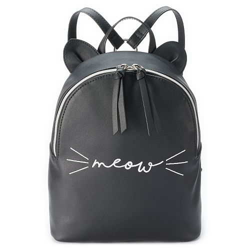 """T-Shirt & Jeans """"Meow"""" Backpack"""