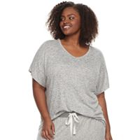 Plus Size SONOMA Goods for Life™ Oversized V-Neck Tee