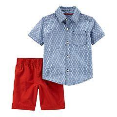 Baby Boy Carter's Chambray Button Down Shirt & Shorts Set
