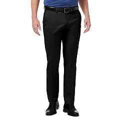 Men's Haggar® Premium No-Iron Khaki Flex Waist Slim-Fit Stretch Flat-Front Pants
